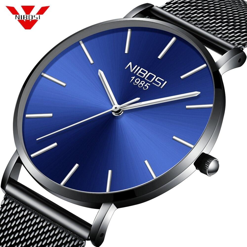 NIBOSI Ultra Thin Fashion Male Wristwatch Top Brand Luxury Business Watches Waterproof Men Watch Clock Relogio Masculino Saat