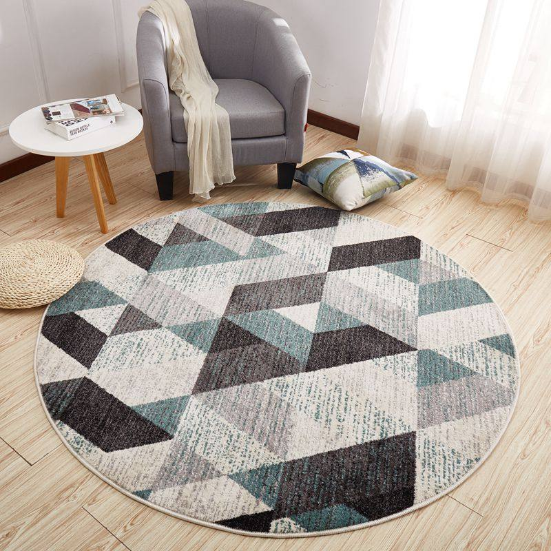 Modern Nordic Round Carpet Home Coffee Table Round Rug Computer Chair Anti Slip Floor Mat Hallway