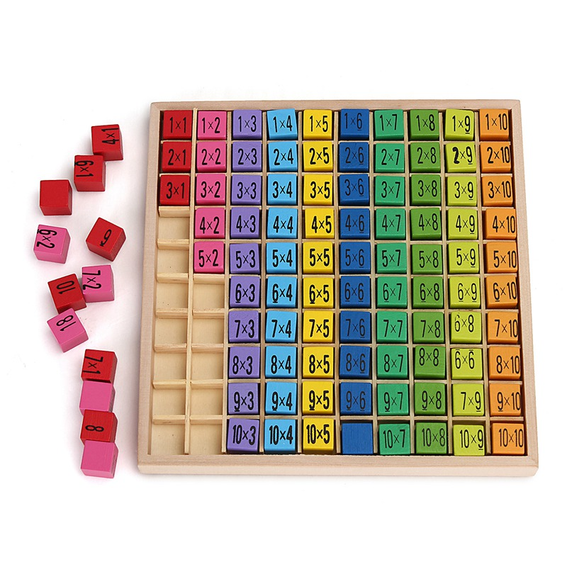 Newest math toy baby wooden toys 99 multiplication table for 99 times table