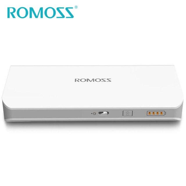 Оригинал ROMOSS Power Bank 10400 мАч Sense4 Powerbank Внешняя Батарея Портативный Резервная Мощность Заряда Dual USB 1A 2.1A Выход