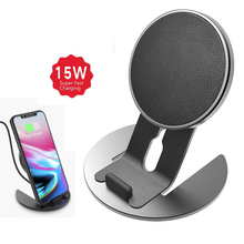 CW6 QI Wireless Charger Aluminum Detachable Charging Mobile Phone Holder For iPhone X/8 Samsung Galaxy