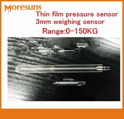 Fast Free shipping 2pcs/lot 0-150kg Thin film pressure sensor 3mm weighing sensor PVDF150kg fsr  force sensitive resistance