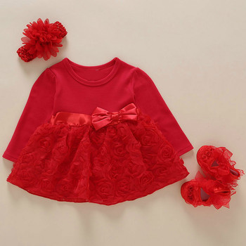 New Born Baby Girls Infant Dress&clothes Summer Kids Party Birthday Outfits 1-2years Shoes Set Christening Gown Baby Jurk Zomer 1