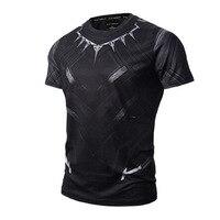 2017 T'Challa Uniform Legends - Pantera Black Panther 3D Print T-shirt Sexy Tights Short Shirts Summer Homme Tops Marvel 3XL