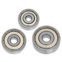 цена на 10Pcs/set Bearing Steel Deep Groove Ball bearings Double-Sided Sealing Pulley Wheel Ball Bearings