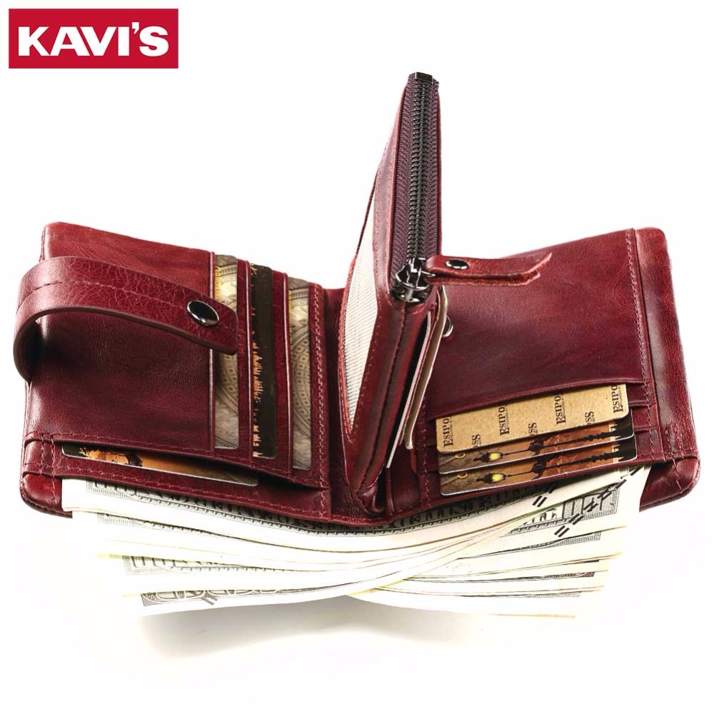KAVIS Women Coin Purse Small Wallet Female Genuine Leather Walet Portomonee Clamp for Money Bag for Girls Lady Zipper and Vallet kavis wallet men coin purse genuine leather card holder portomonee male small walet portfolio rfid money bag vallet pocket perse