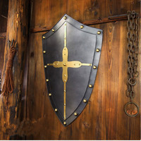 Medieval Cosplay Decorative Shields For The Cross Army Knight Cross Shield Historical Wall Hanging Ornament Decoration BoxedT127