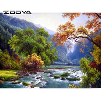 2015 New Diy Mosaic Inlay 3d Painting Full Whole Square Drill Art Diamond Embroidery Scenery Forest