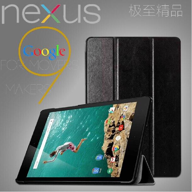 3-папка ультра тонкие Slim Folio Stand Crazy Horse Магнитный проснуться кожаный чехол Smart Cover для Google Nexus 9 nexus9 8.9 Планшеты