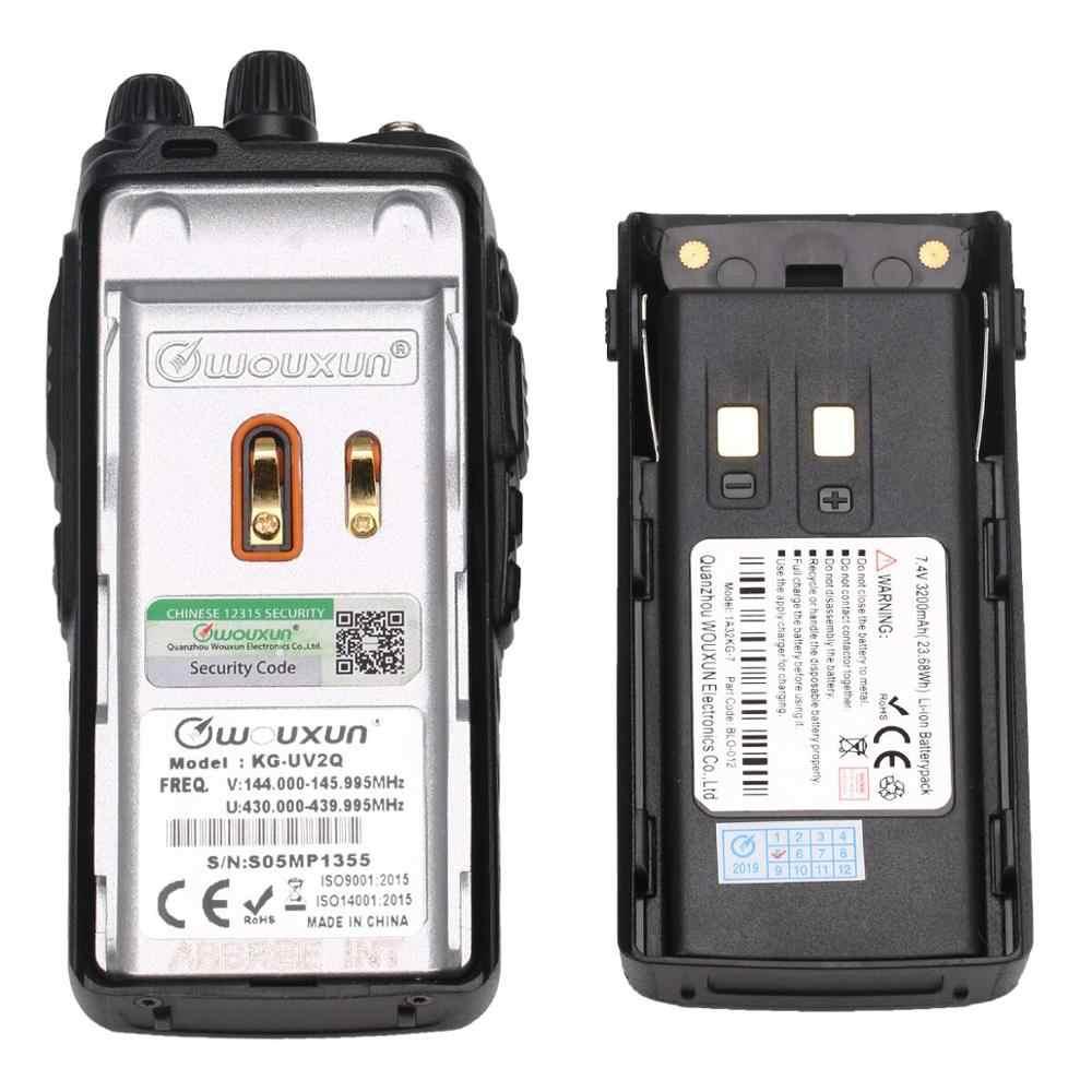 Wouxun KG-UV2Q 7 bandes/bande d'air 8Watts haute puissance répéteur à bande croisée KG-UV9D de mise à niveau Radio Portable Plus talkie-walkie