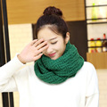 New Winter Cable Ring Scarf Women Knitting Infinity Scarves Warm Circle Scarf bufandas cuellos Gift ladies