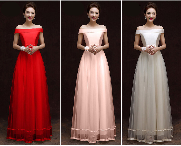 Long new ladies plus size tulle lace applique evening gown dress for
