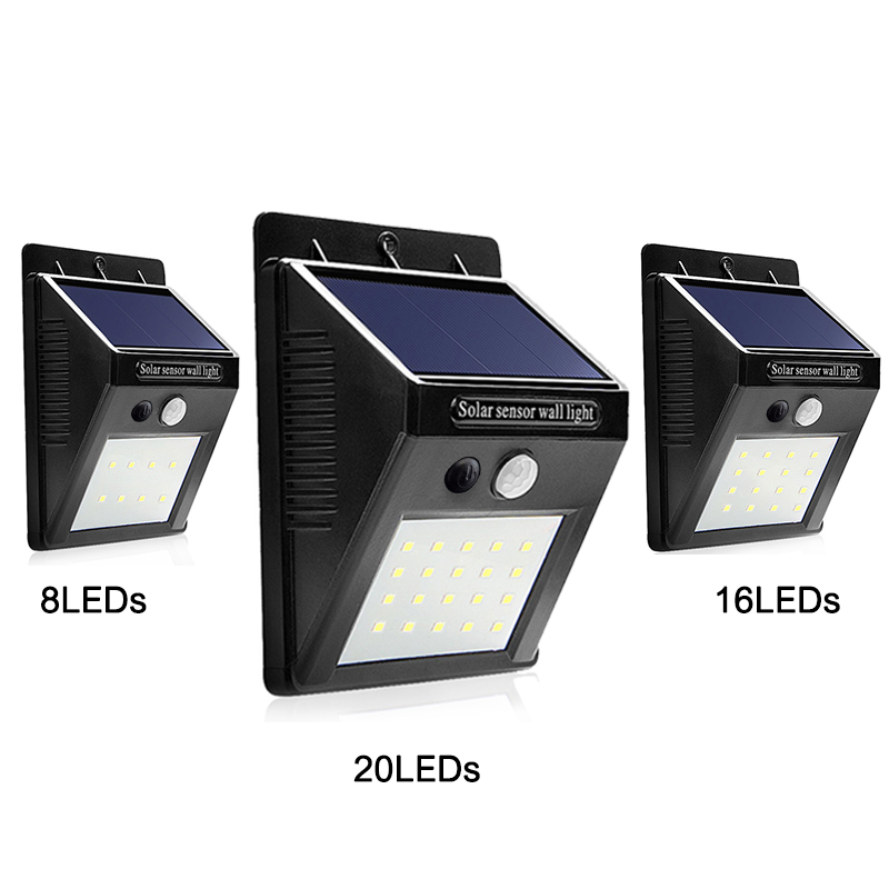 LED Solar Light Garden Sensor Night Lights Solar Lamp PIR Motion Sensor Waterproof Solar ...