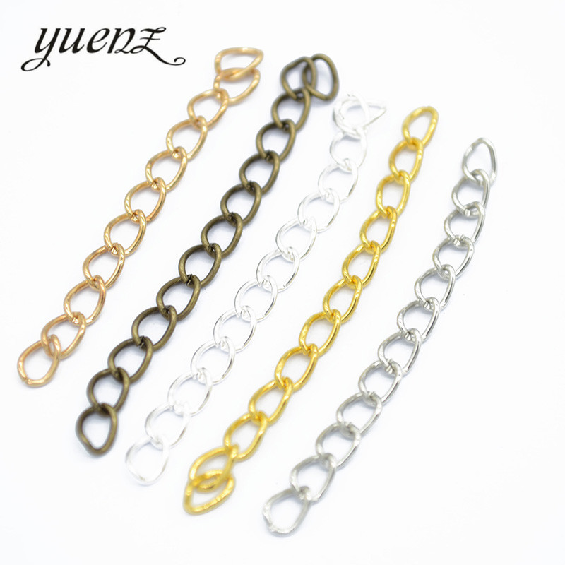 YuenZ 50 pcs 5 Color Iron Extension Chains for Jewelry Making Findings DIY Necklace Bracelet Chain  V103YuenZ 50 pcs 5 Color Iron Extension Chains for Jewelry Making Findings DIY Necklace Bracelet Chain  V103