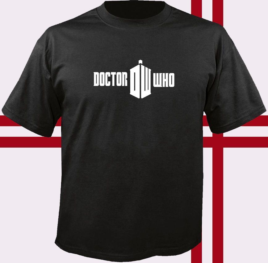 DOCTOR WHO logo T-Shirt Mans Unique Cotton Short Sleeves O-Neck T Shirt Summer Short Sleeves Cotton Fashiont Shirt