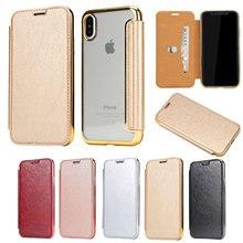 30 PCS Samgo Case Cover Originele Flip Case Voor iPhone XS lntelligent Slaap Beschermhoes voor iPhone 8 9 Plus leather Case
