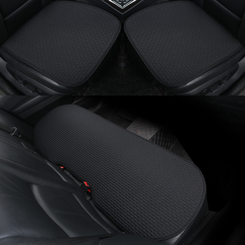 3PCS Flax Car Seat Cushion Summer Auto Seat Cover Protector Mat Pad Cloak Suit Car Sofa Chair Universal Front Back For Sedan SUV