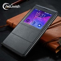 Smart View Auto Sleep Wake Shell With Original Chip Mobile Phone Leather Case Flip Cover For