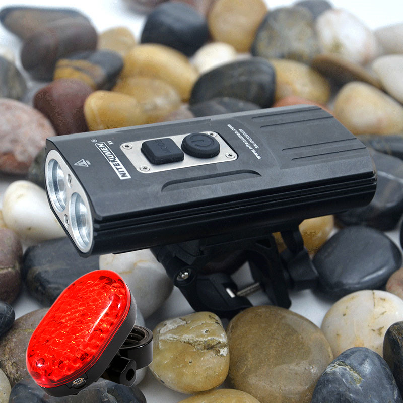 цена на New XM-L2 LED Bicycle Light Bike Light For Bike Cycling Bike Bicycle Waterpoof Front Light + Bike Tail Light