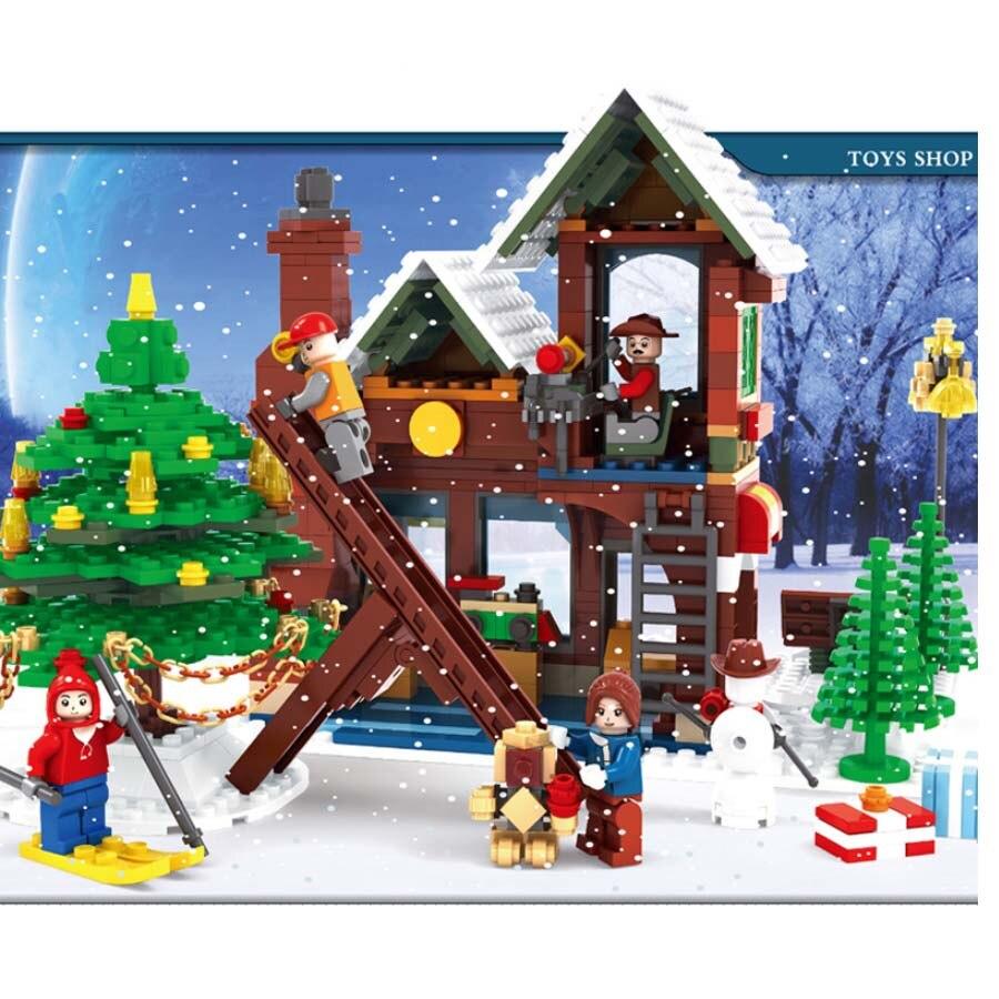 Santa in Workshop Building Toys Christmas Time