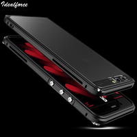 For Huawei P10 Luxury Bumper Case Clear Back Aluminium Frame Metal Phone Case For HUAWEI P10Plus
