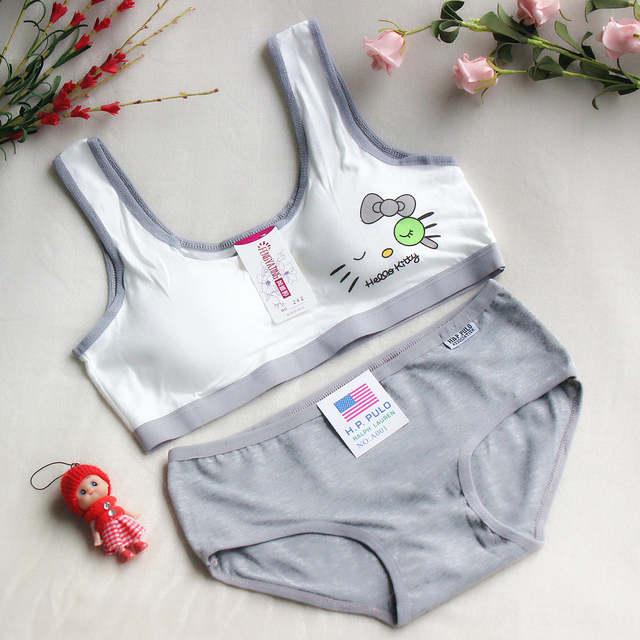 9611d8b52c placeholder Brand Kids Bras Set Children cat sports bra sport bra Set Young  Girls Training Bra and