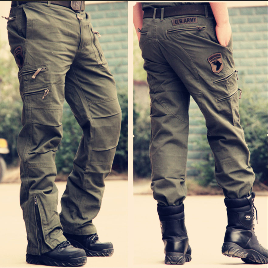 अमेरिकी ARMY 101ST AIRBORNE DIV M42 (रेप्रो) मेन्स कार्गो पैंट