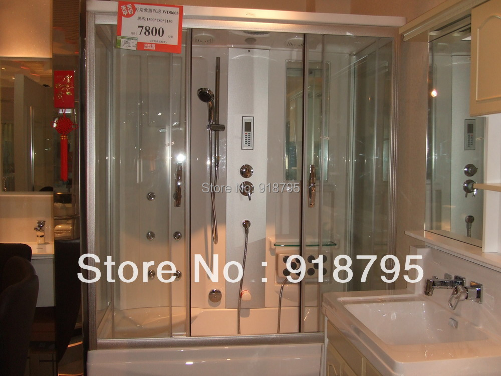 double people luxury steam shower enclosures bathroom steam shower cabins jetted massage sauna rooms rs6805