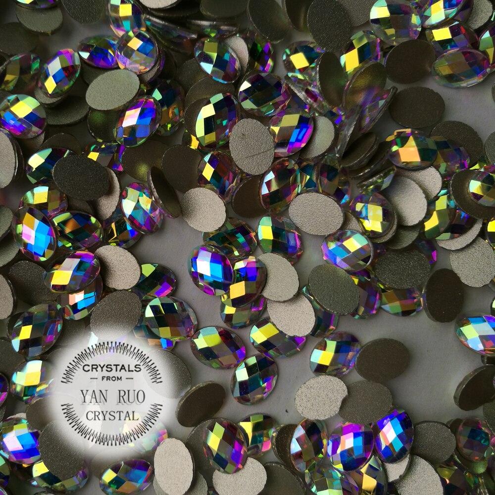 Crystal Glitter 4 * 6mm, 6 * 8mm AB Crystal Flat Flight Back Nail Art - Մանիկյուր - Լուսանկար 2