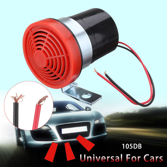 US $6 48 41% OFF|12V 24V Car Motorcycle Vehicle Reversing Horn Speaker  Warning Siren Backup Alarm Warning Sound Beep Reverse Siren Invisible-in
