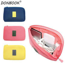 Donbook Portable Organizer System Kit Case Storage Bag Digital Gadget Devices USB Cable Earphone Pen Travel Cosmetic Insert 9988