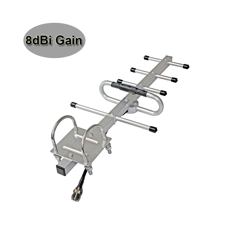 Wholesale 8dBi GSM Yagi Antenna GSM 850MHz 900MHz UMTS 3G 850MHz Signal Booster Repeater Outdoor Yagi Antenna External Use #15