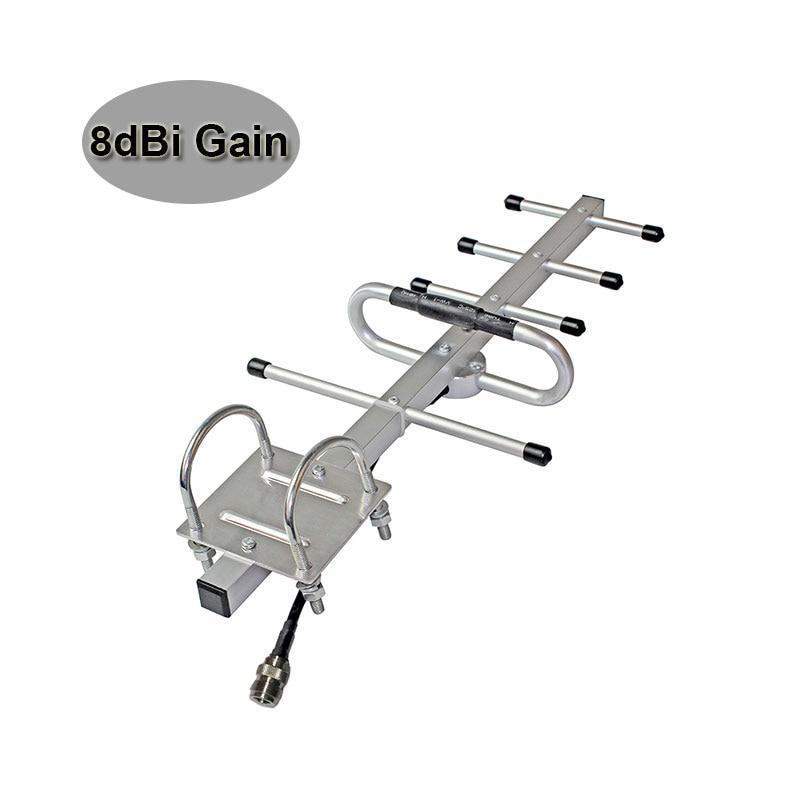 Wholesale 8dBi GSM Yagi Antenna GSM 850MHz 900MHz UMTS 3G 850MHz Signal Booster Repeater Outdoor Yagi Antenna External Use #15