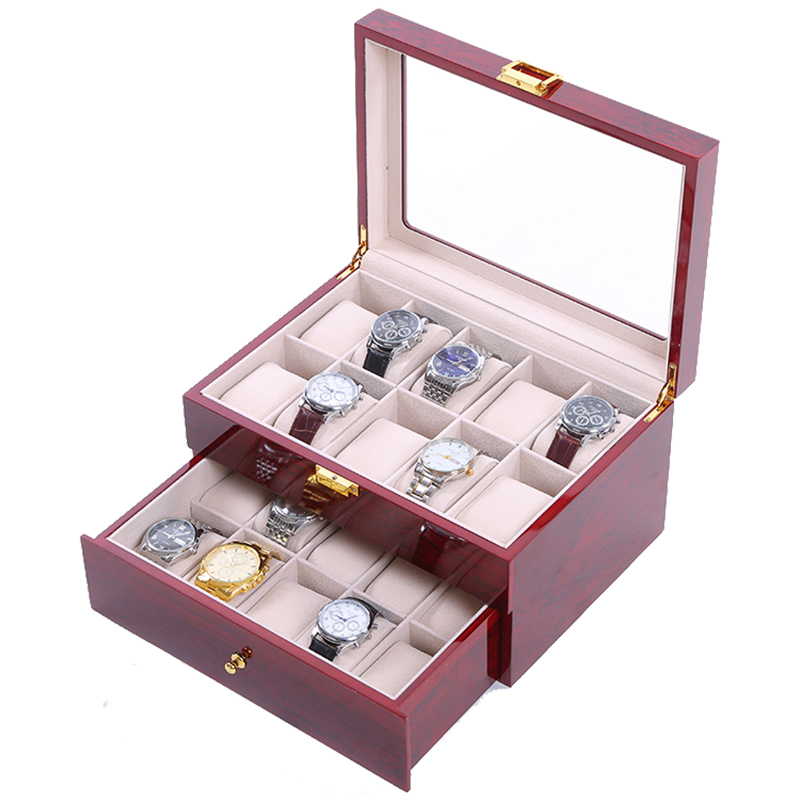 2019 New 20 Grids Wooden Watch Case Watch Boxes Casing for Hours Sheath for Hours Box for hours Watch 61 hours