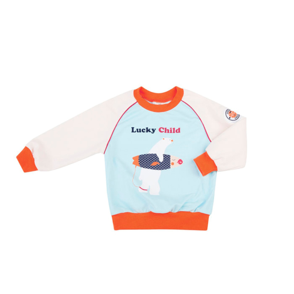 Hoodies & Sweatshirts Lucky Child for boys 32-12 Cardigan Kids Sweatshirt Baby clothing Coat Children clothes dba6389 dave bella spring infant baby boys fashion print hooded coat kids toddler children hight quality clothes