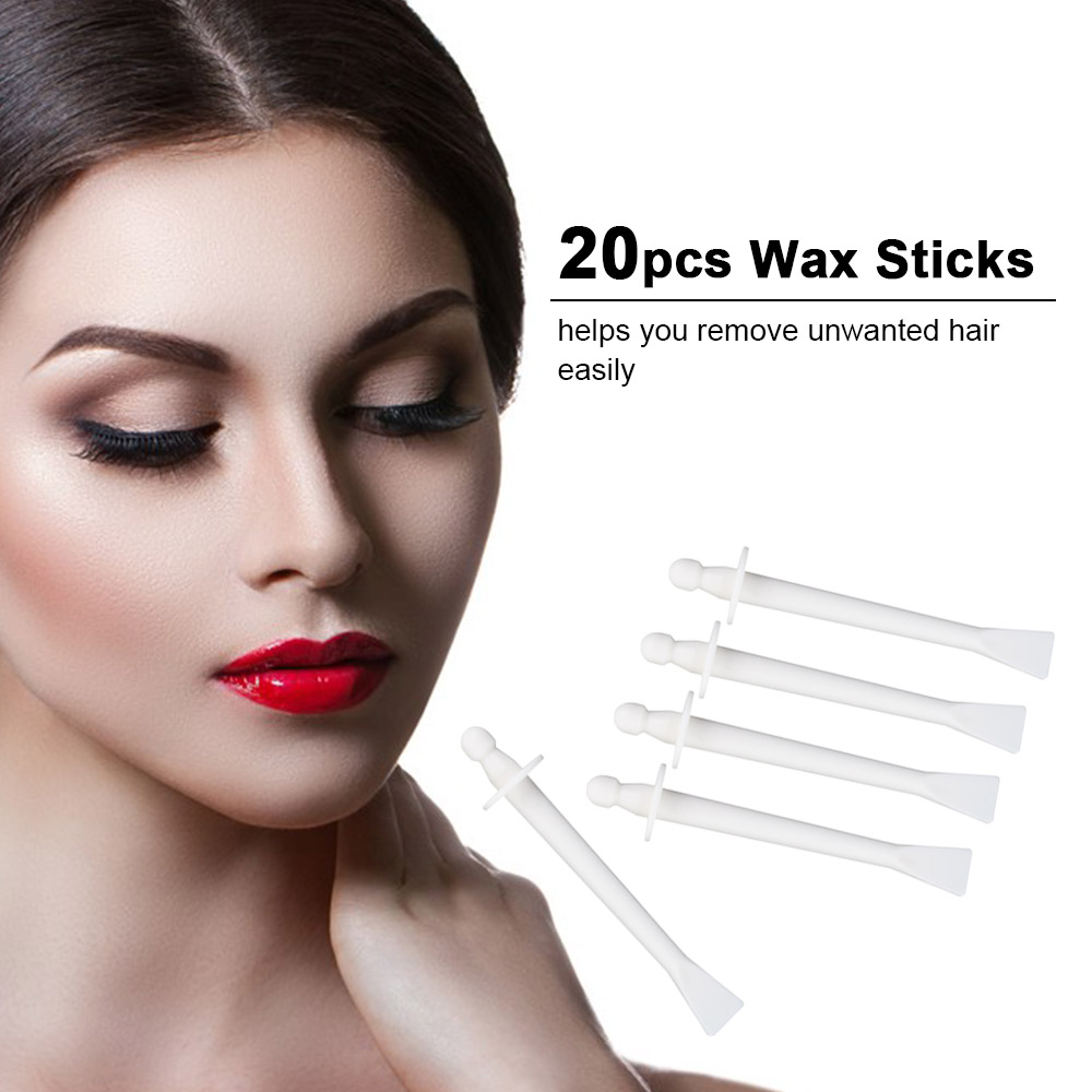 20pcs 2-In-1 Wax Stick For Face Nose Eyebrow Hair Removal Wax Applicator Pro Hair Removal Accessories Waxing Stick Disposable