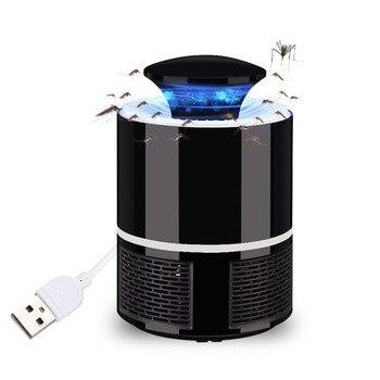 Likwidator komarów na USB lampa elektryczna pułapka przeciw komarom odstraszacz insektów LED czarny/biały