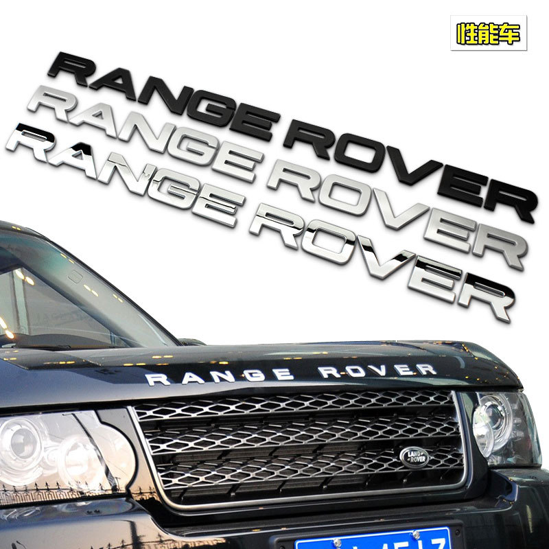 High Quality Car Styling Front Or Back RANGE ROVER Letters Logo Sticker For Land Rover Range Rover Badge Emblem Auto Accessories dsycar 1pair car styling steering wheel zinc alloy shift paddles for land rover aurora freelander discoverer range rover jaguar