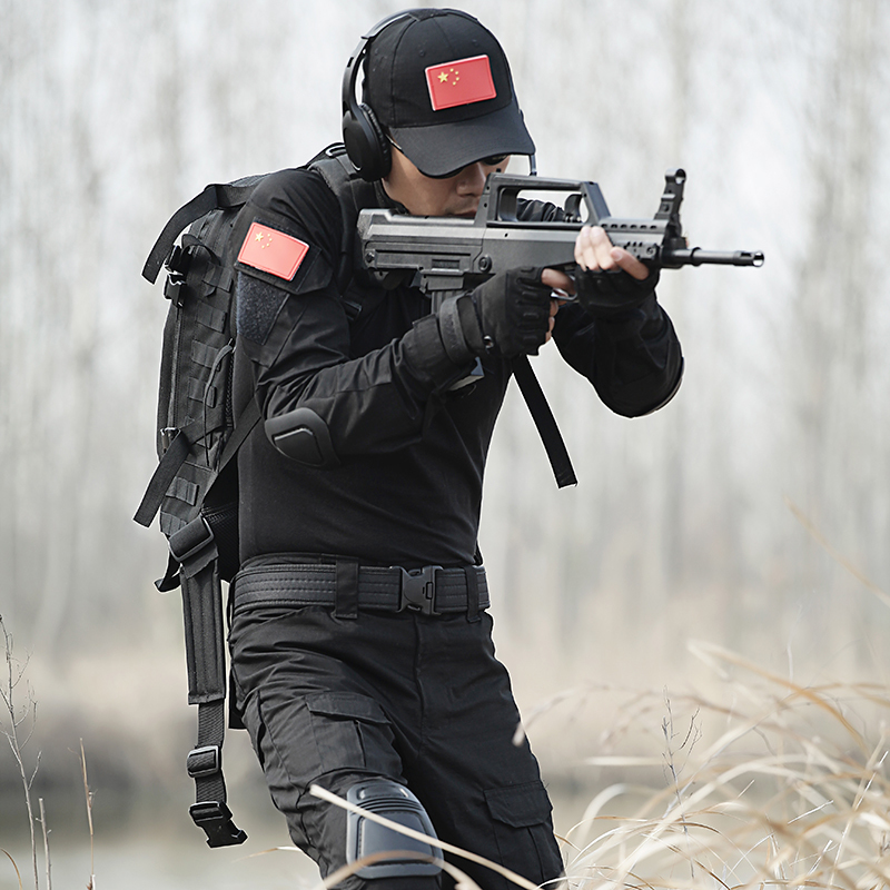 Tactical military uniform Clothing Outdoor Black camouflage combat uniform Suit Genuine Military Tactical pant wtih knee pads fire maple sw28888 outdoor tactical motorcycling wild game abs helmet khaki