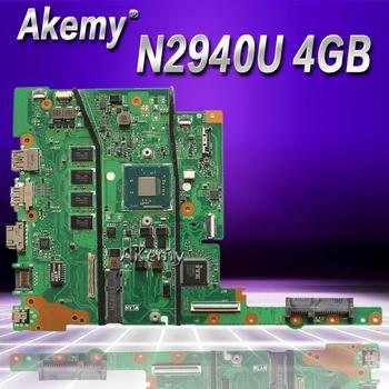 Akemy E402MA For ASUS E402MA E502MA Laptop motherboard N2940U 4G memory mainboard REV2.0 integrated cpu onboard work 100% Test