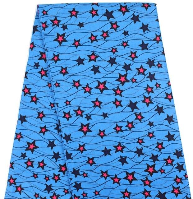 Nigerianischen stil stern muster baumwolle stoff material Blau farbe ...