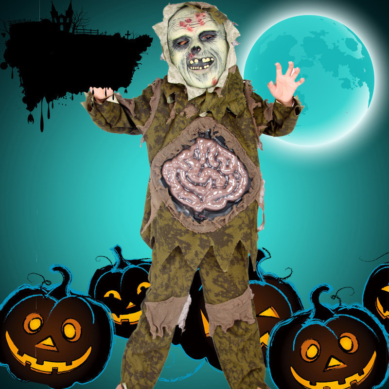 Halloween Costumes for Kids Cosplay Zombie Scary Intestines Clothes Stage Outfits for Children Set Horror Night Zombie Clothing girls boys halloween costumes surgeon sets doctor cosplay stage wear clothing children kids party clothes free drop shipping new