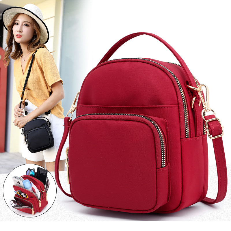 2019 New Casual Nylon Bag Shoulder Bags Messenger Multilayer Bag Waterproof Nylon Ladies Casual Handbag Girls Bolsos sac a main|Shoulder Bags| - AliExpress