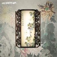 Modern chinese style aisle wall lamp classical oak wood led wall lamp 3623