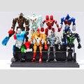 Anime Real Steel PVC Action Figure Model Collection Brinquedos Classic Toys Presente de Natal 8 pçs/set
