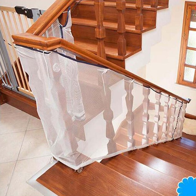 child kid protection stair fence baby stair safety net balcony baby safety fence stair net 200/300cm