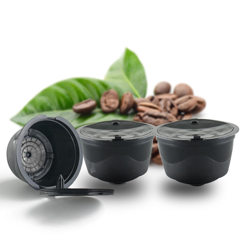 3ks hnědá opakovaně použitelná druhá genarace Dolce Gusto káva tobolka plastová plnitelná kompatibilní kávový filtr koše měkké kapsle