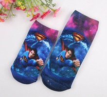Summer Fall New 2016 Fashion Children Socks Superman Pattern Cotton 2 Pair / Lot Birthday Gift Breathable Kids Socks