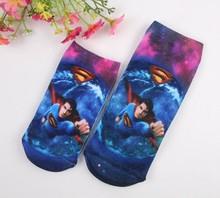 Summer Fall New 2016 Fashion Children Socks Superman Pattern Cotton 2 Pair / Lot Birthday Gift Breathable Kids Socks