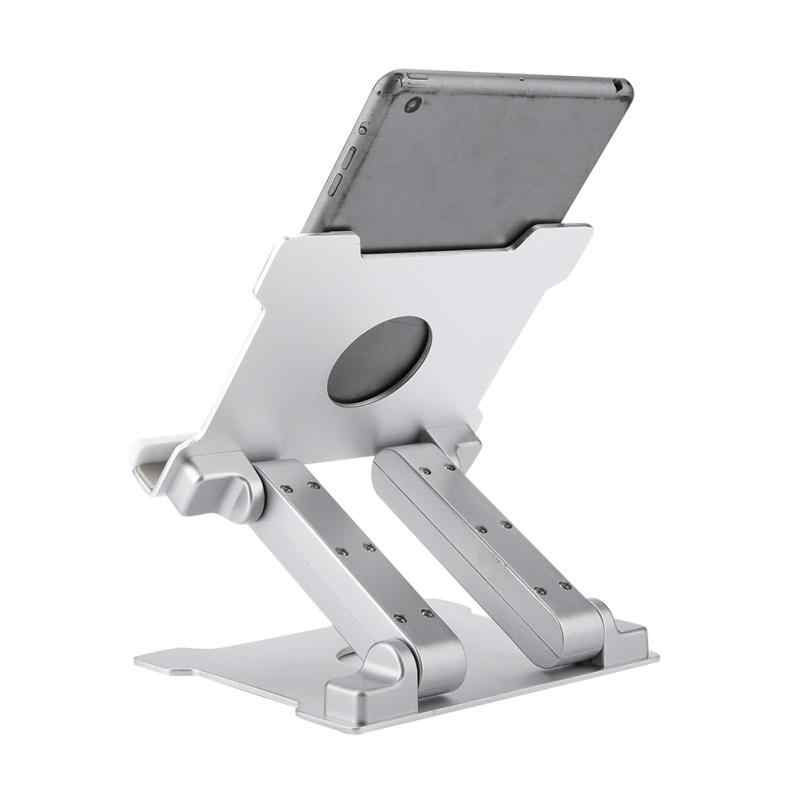 "Aluminum Alloy Portable Notebook Bracket Foldable Laptop Tablet Stand with Silicone Protection Pad Supports 13.3"" and Below"